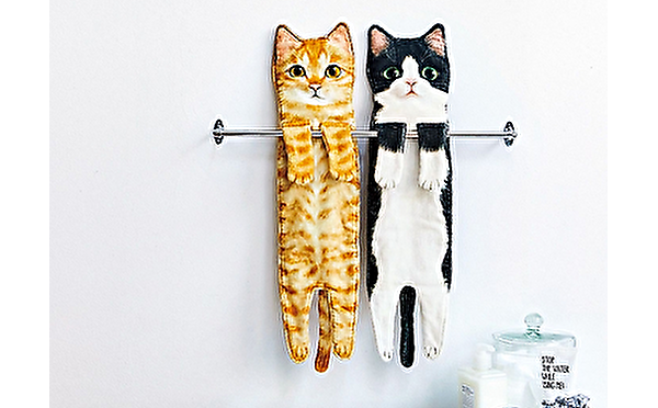 ぶら~んと伸びた姿にほっこりしちゃう♡フェリシモ猫部の「なが~い猫タオル」はプレゼントにもぴったり♩