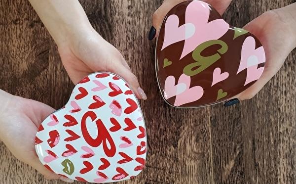 2色がお目見えするハート缶はパケ買い必至♡ギャレットポップコーンにバレンタイン限定フレーバー&デザイン缶が登場♩