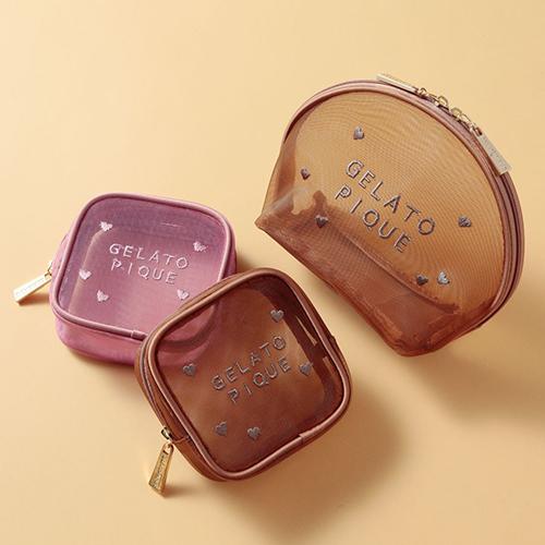 「ジェラピケ」のバレンタインは甘さ控えめ。チョコレートカラーのポーチは友チョコ代わりにも良いかも!♡