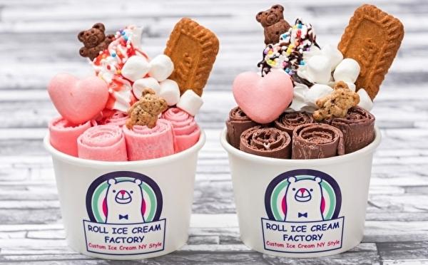 広島のイベントにも初登場!ロールアイスクリームファクトリー、バレンタイン限定アイスはハートのマカロン×カップルベアがポイント♡