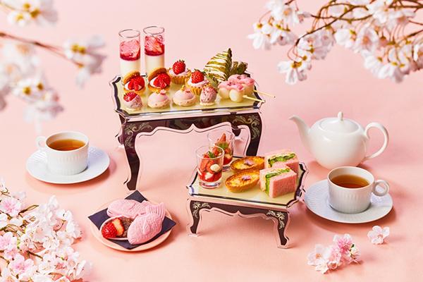 ちょっぴり贅沢な午後に憧れる。ザ ストリングス 表参道の「ストロベリー&桜 アフタヌーンティー」が素敵