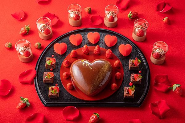 「ヒルトン東京お台場」で開催中のデザートビュッフェに定額プランが登場!期間限定バレンタインメニューも素敵
