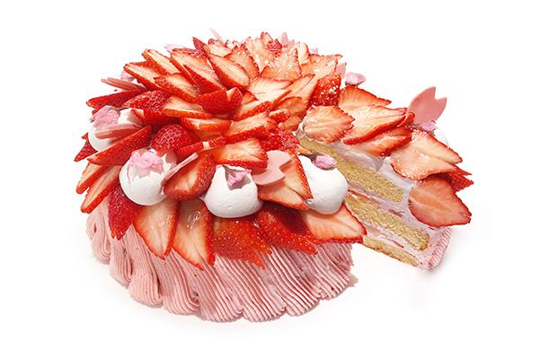 """""""ショートケーキ""""にサクラ咲く♡「カフェコムサ」に3日間だけ楽しめる春色のケーキが登場します!"""