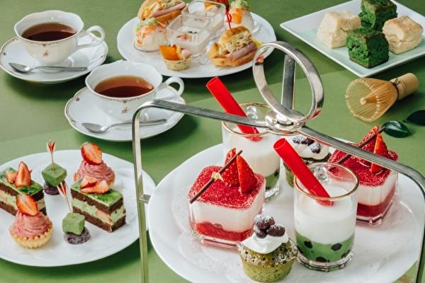 いちご&抹茶が同時に楽しめちゃう♡新横浜プリンスホテル最上階のアフタヌーンティーが4月から春仕様に♩