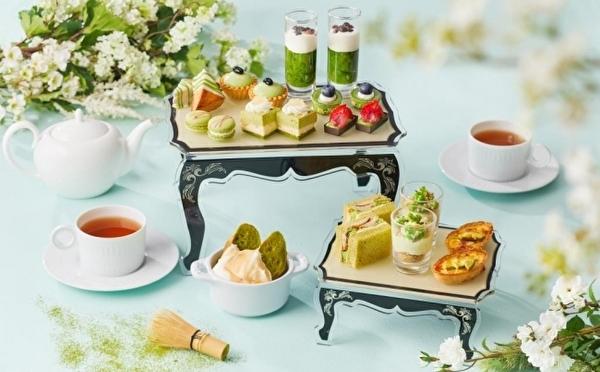 5種のブランド抹茶を贅沢に食べ比べ♩ザ ストリングス表参道、初夏のアフタヌーンティーは「抹茶」が主役!