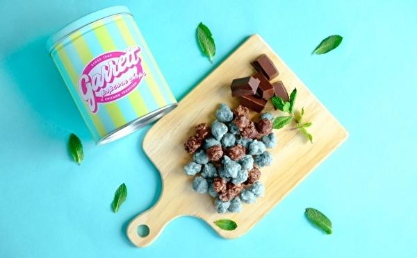 ギャレットポップコーン初のチョコミントレシピが登場!春のデザイン缶&ジャー入り限定アイテムも見逃せない♩