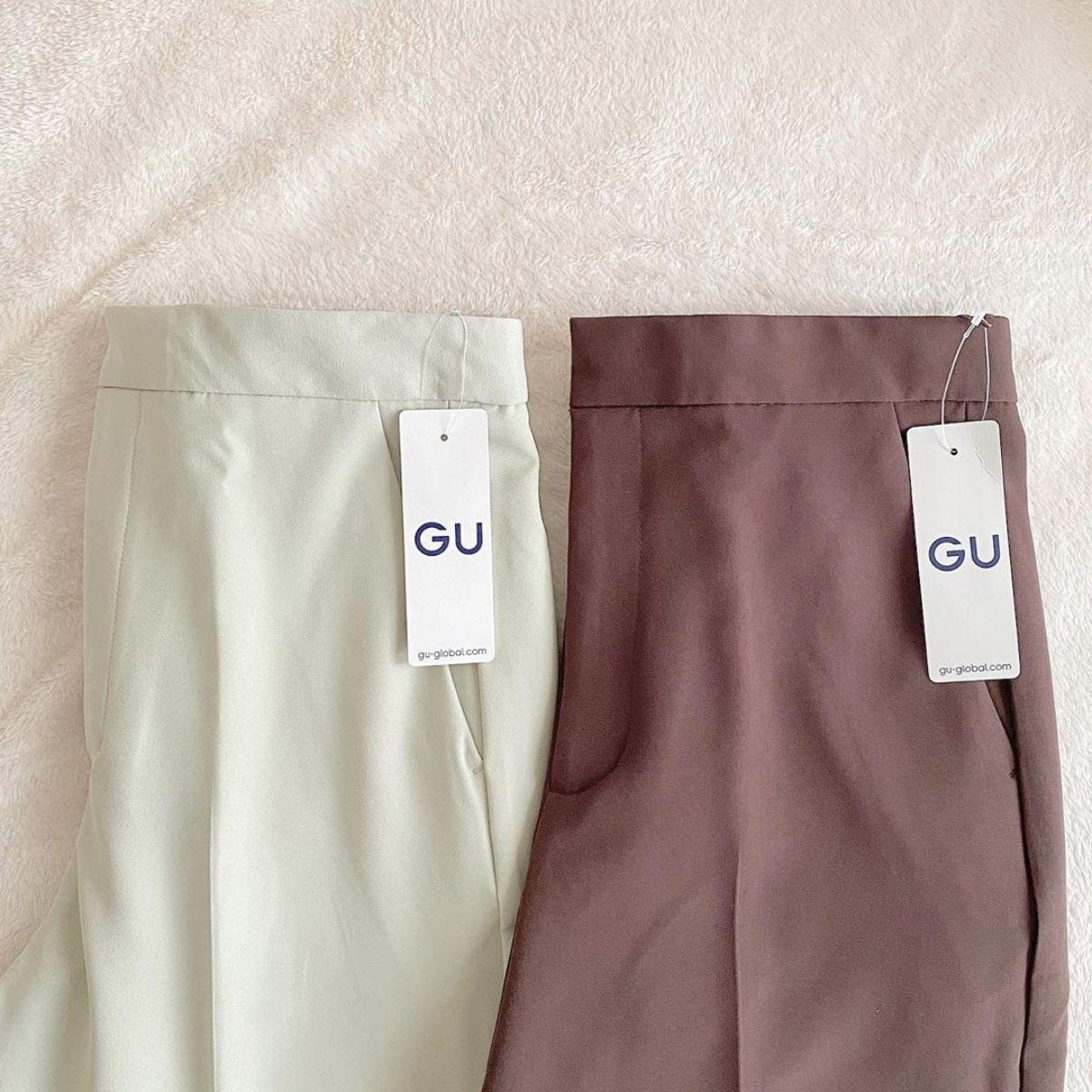 この春トレンドの「カラーパンツ」はGUでゲットしよう!シルエットとカラー別に4種を比較しました◎