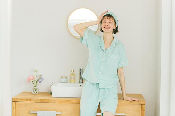【GU】触れた瞬間、ひんやり心地良い「ミントパジャマ」が登場!夏のおうち時間を快適に過ごせそう♡