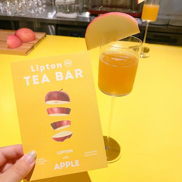 バー初心者さんに薦めたい完全予約制の「Lipton TEA BAR」。存分にティーカクテルとペアリングスイーツを楽しんで♡