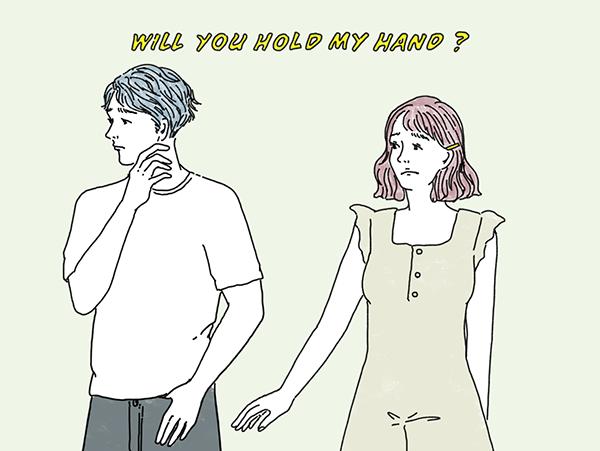 彼が手を繋いでくれません。スキンシップを恥ずかしがる男の人の心理って…?【恋する女の子のためのお悩み相談室】