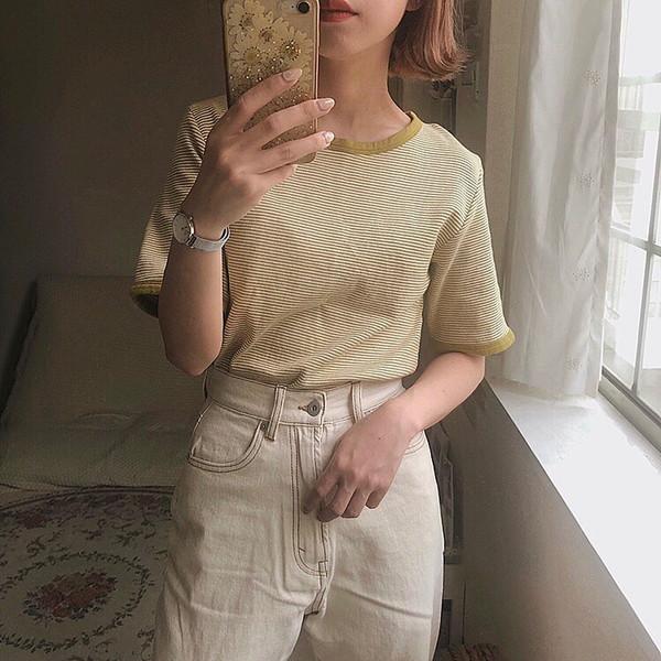【今週なに着る?】定番ホワイトデニムにひまわり色ボーダーをプラス♪30度超えの日もさわやか夏ガールに♡
