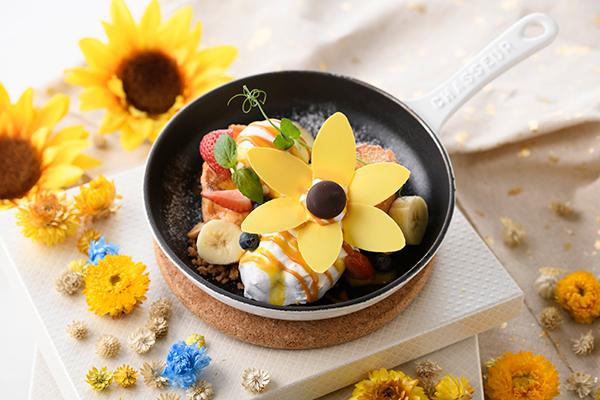 お皿に咲くひまわりに自然と元気がもらえそう♡「アニヴェルセルカフェ みなとみらい横浜」の夏メニューが素敵