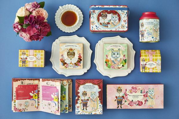 ネコ好きさんにはたまらにゃい♡Afternoon Teaから、ネコデザインがキュートな秋限定お茶とお菓子が登場