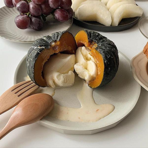 「グリークモモ」の次は「かぼちゃアイス」がバズる予感…!ほくっとろ~の食感がたまらないおいしさなんです♡
