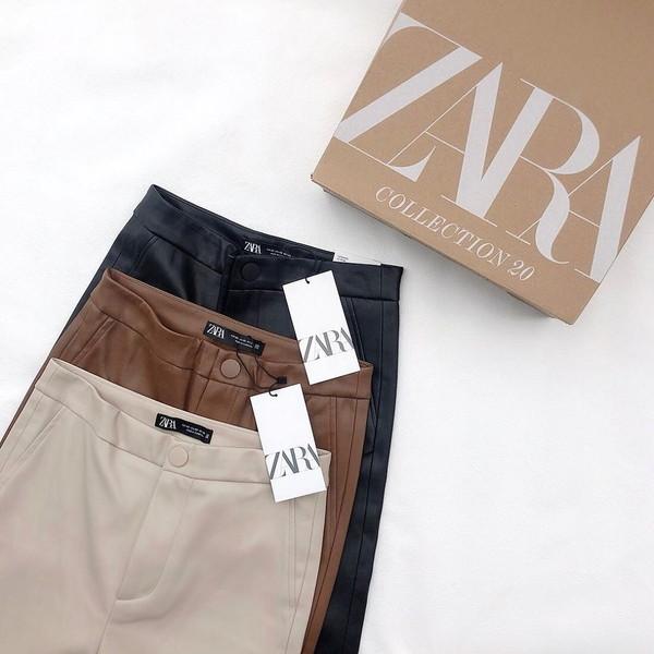 トレンドのレザーパンツ初挑戦ならZARAの人気急上昇の美脚レギンスがおすすめ!旬の着こなし方も紹介します♡