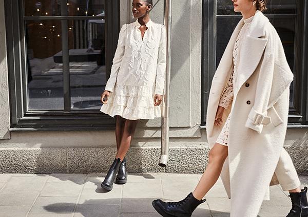 リサイクル素材から作られたワンピースやコート。H&Mが贈る秋コレクションはタイムレスなデザインもグッド!
