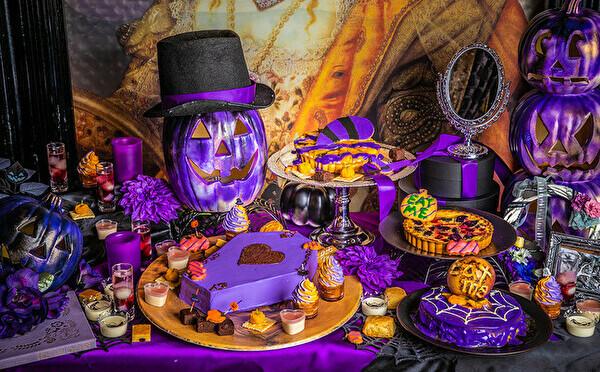 あなたはどっち派?池袋のアリスレストラン、今年のハロウィンビュッフェはオレンジ×パープルのW開催!
