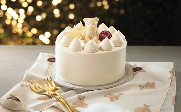 真っ白なケーキにピケベアがちょこん♡ジェラピケ初のXmasケーキはセブンイレブンHPで予約できちゃう♩