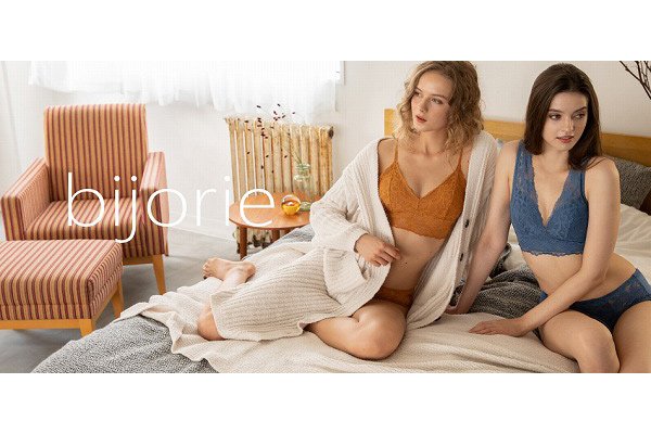 ノンワイヤーブラ専門ブランド「bijorie」からオーガニックランジェリーが登場♡新宿に新店舗もオープンします
