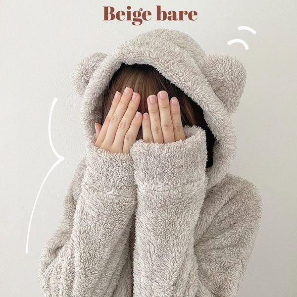 """GU新商品""""クマ耳""""付きパジャマはもうGETした?シンプルデザインで大人女子にもちょうどいい甘さなんです♡"""