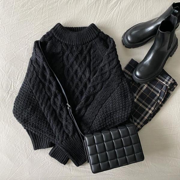 ニットをきれいめに着るならH&Mのケーブルニットしか勝たん♡1枚あれば秋冬のコーデにもう悩みません!