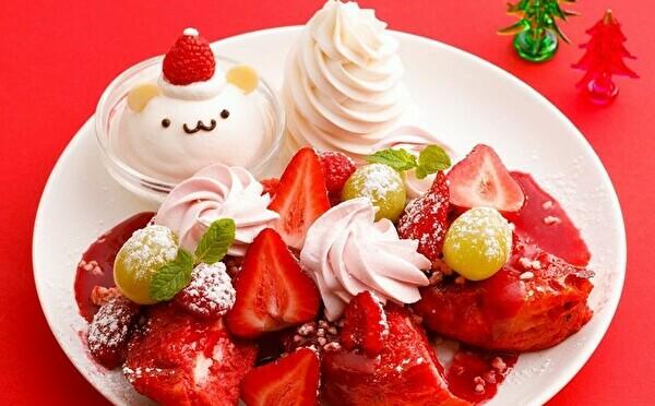 今年はアイスがサンタさんに変身♡アイボリッシュ、真っ赤なベリーのフレンチトーストはクリスマスのお楽しみ♩