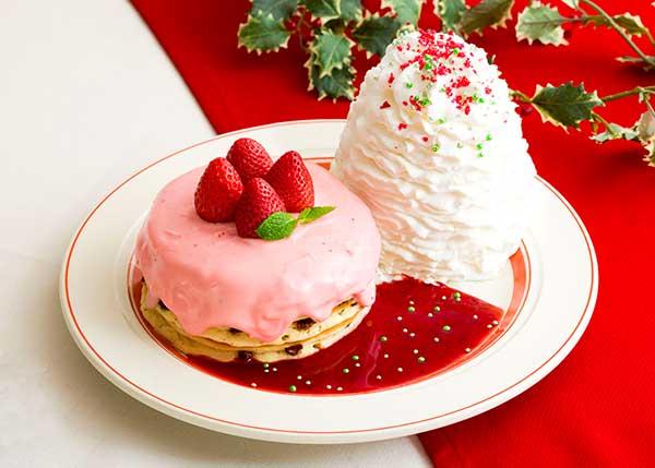 """濃厚な苺のチョコクリームがたっぷり♡「エッグスンシングス」が贈る""""クリスマスパンケーキ""""が食べてみたい!"""