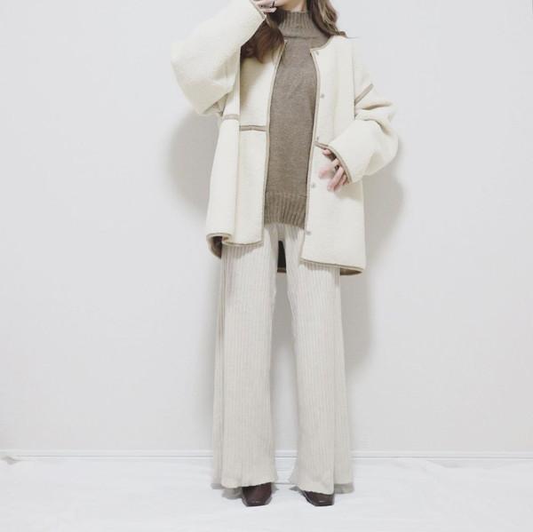 【今週なに着る?】20度前後でも寒暖差にご注意。1着でボアとムートンが楽しめるコートが気温調節もしやすいです