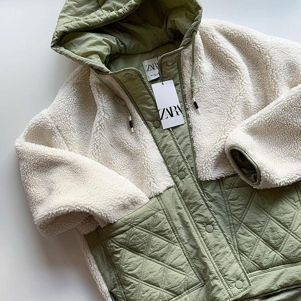 ZARAのジャケットがほぼ半額でゲットできるの…?ボア×キルティングがかわいすぎるから見つけたら買いです♡