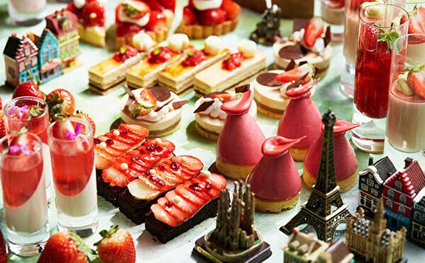 イチゴのご褒美メニューがインターコンチ大阪で12月スタート!ヨーロッパ旅行気分が楽しめるブッフェも