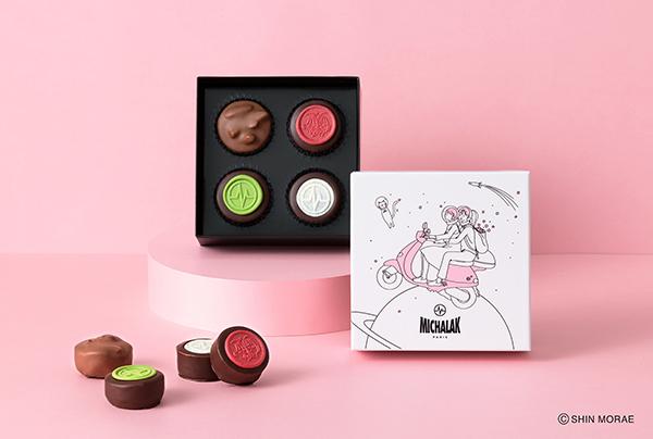 韓国のイラストレーター、シンモレさんとのコラボパッケージも登場!「ミシャラク」のバレンタイン商品に注目を
