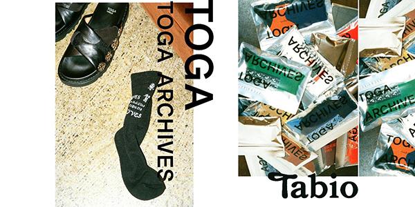 Tabioの技術とTOGAのエレメントを織り交ぜた全5型。ウィンターギフトにもぴったりなコラボソックスが登場