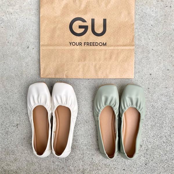 シンプルで使いやすいデザインと履きやすさ…1690円でいいの!? GUの新作フラットシューズが早くも話題です