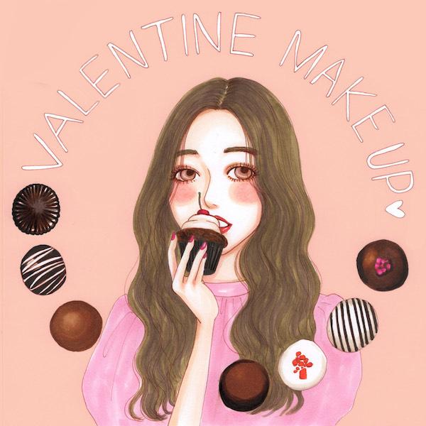 """甘くてほろ苦い、チョコレートをメイクに仕込んで。今年はちょっぴり大人な""""バレンタインメイク""""にチャレンジ"""