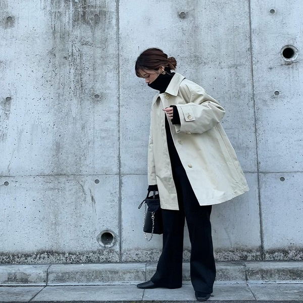 春コートはユニクロの「ステンカラーショートコート」で決まり!小顔効果が期待できる優秀アイテムを徹底調査