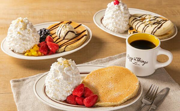 気軽に楽しめる、ちょこっとパンケーキ。エッグスンシングスに初の「おひとり様」セットが登場します