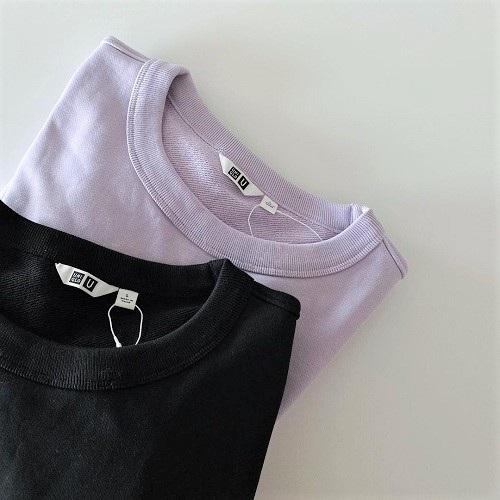 ラクチンなのにおしゃ見えするなんて最高すぎ。ユニクロユーの「スウェットクルーネックシャツ」は絶対に買いです
