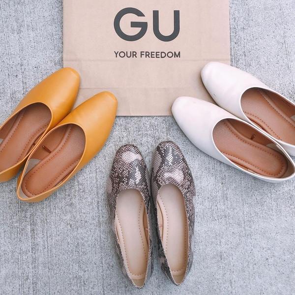 今だけなんと1490円!GUの新作セミスクエアシューズは、一度履いたら手放せない履きやすさだから絶対買い