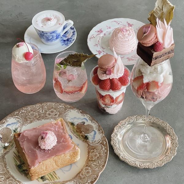 道後温泉のアートな喫茶店「白鷺珈琲」で、桜の開花時期だけ楽しめる「さくら香る」メニューが始まりました