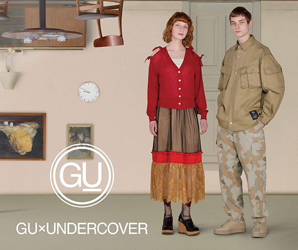 【GU×UNDERCOVER】メンズ&ウィメンズウェアをはじめ、 シューズやルームウェアまで全65型が展開