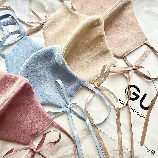 GUから紫外線もカットできちゃう「リボンマスク」が登場。マスク×華奢リボンは一目惚れ級のかわいさです