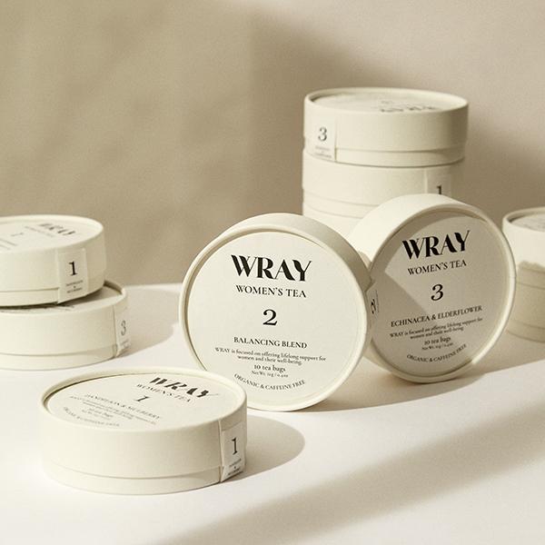シンプルな丸いパッケージも素敵。セルフケアブランド「WRAY」のオーガニックハーブティーが気になる