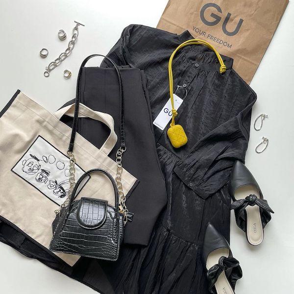 【GU】今だけ1490円に値下げ中!新作の「ティアードチュニックブラウス」は体型カバーにも最適でした