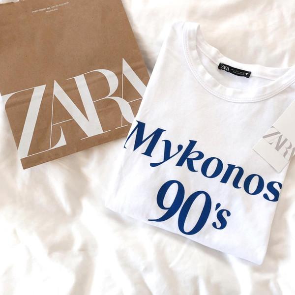 【ZARA】ちょっぴり細みシルエットがきれいに着こなせる秘訣。アンダー2000円でロゴT買うならZARA一択!