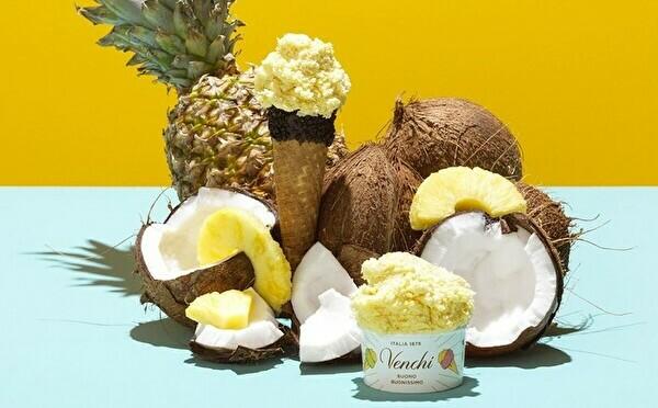 チョコジェラテリア「Venchi」夏の新作はトロピカル。日本先行発売ソルベ×シェイクの新味も気になります