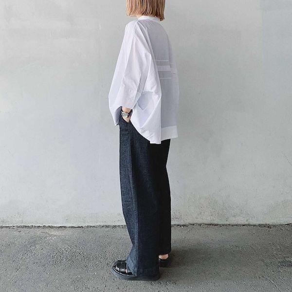 """無印良品の""""神パンツ""""はこれかも。「縦横ストレッチデニムワイドパンツ」は美シルエット・細見えが叶う逸品"""