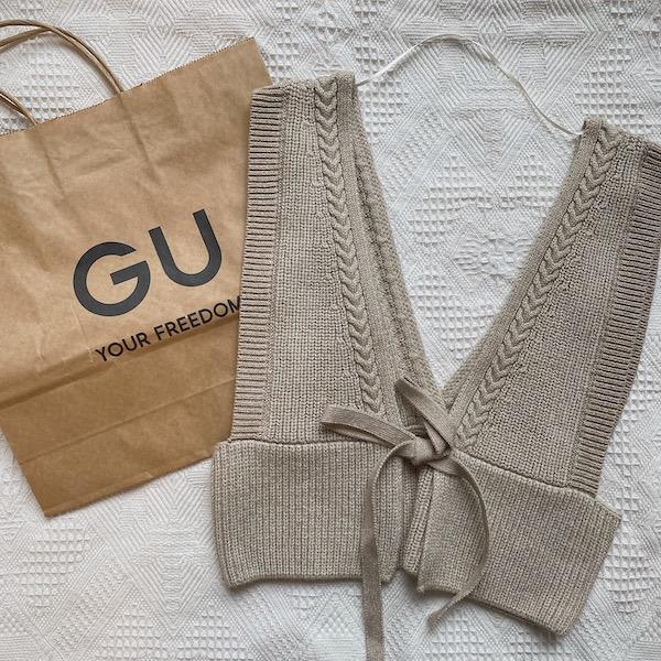 【GUレポ】2WAYで楽しめるのがうれしい!「メランジニットビスチェ」は秋まで使えてコスパも◎なんです