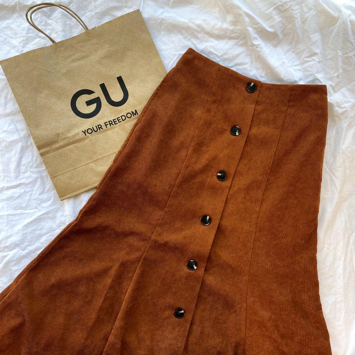 【GUレポ】上品なシルエットが大人っぽい。「ライトコーデュロイマーメイドスカート」で秋らしさを取り入れて