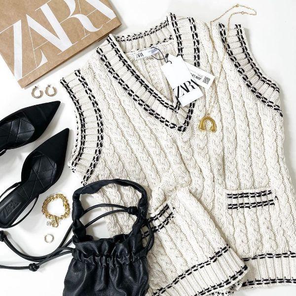 【ZARA】今から秋まで重宝するのはコレ!スカートとセットアップOKのゆるっと「ニットベスト」にロックオン