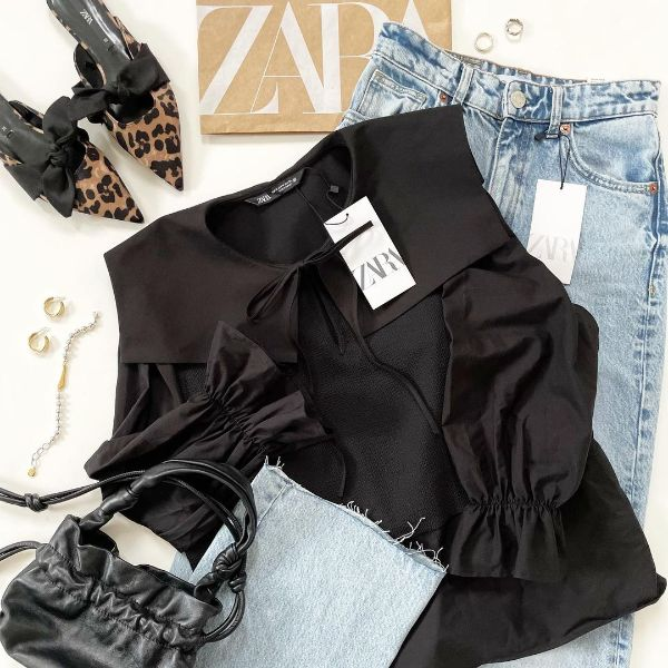 """【ZARA】甘くなりすぎない、ビッグカラーのアイテムってアリかも。買って今すぐ使える""""ポプリンシャツ"""""""
